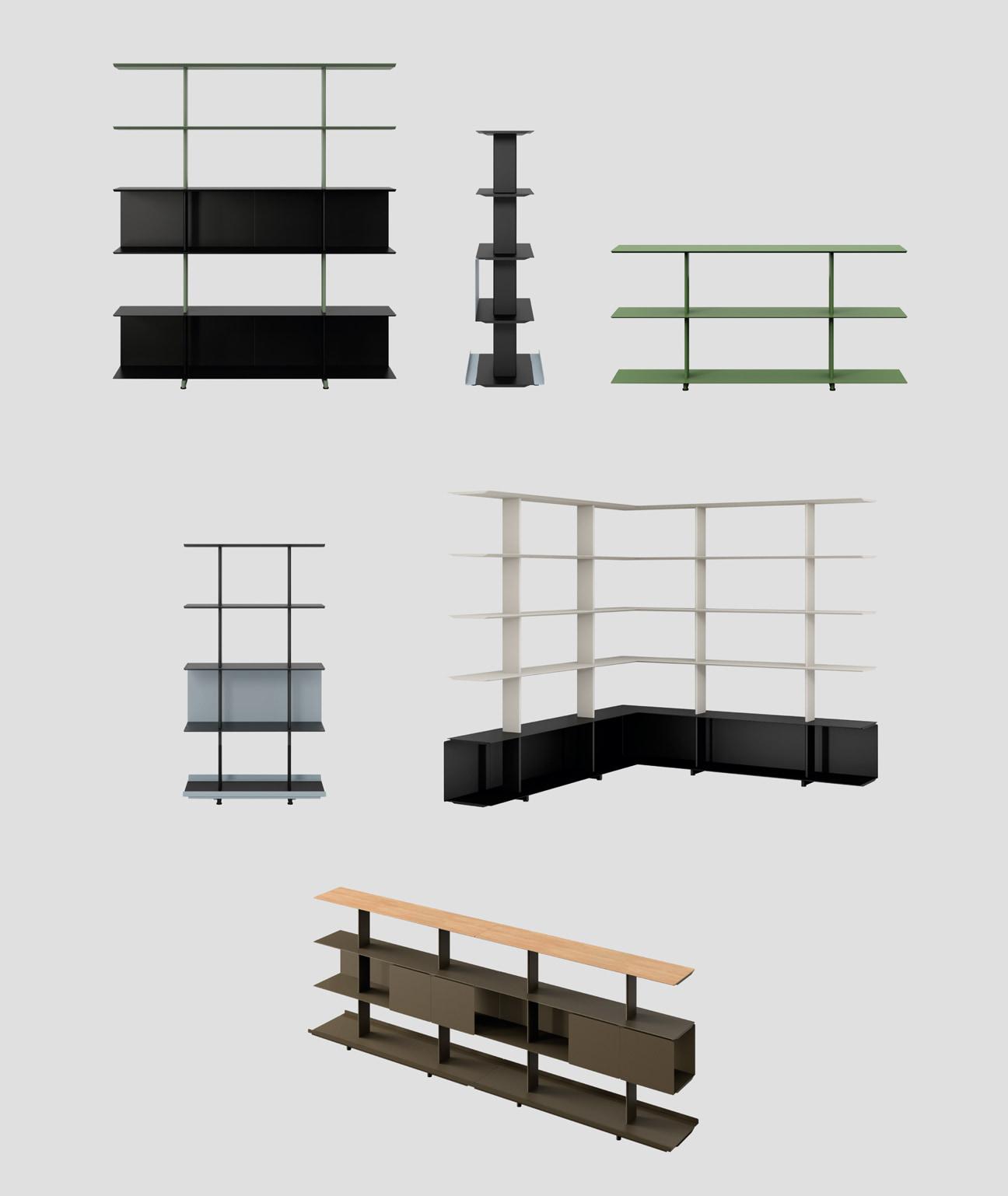 plano muebles de biblioteca